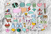 手涂鸦业务涂鸦 — 图库照片