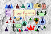 Human resources  idea — Stock Photo