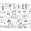 Seamless pattern with medical icons — Vector de stock #41564651