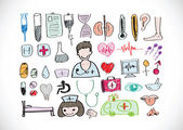 Seamless pattern with medical icons — Stock Vector