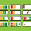 Battery charge level indicators — 图库矢量图片 #41739291