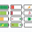Battery charge level indicators — ストックベクター #41739297
