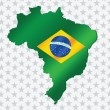 Stock Vector: Brazil map and flag theme idedesign