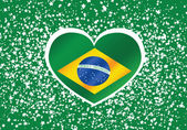 Brazil map and flag theme idea design — Stock Vector