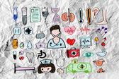 Patrones sin fisuras con iconos médicos — Foto de Stock