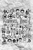 бесшовный паттерн с медицинские иконки — Стоковое фото