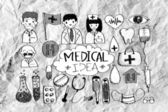 Seamless pattern with medical icons — Stock Photo