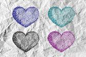 Hart en de dag van valentijnskaarten — Stockfoto