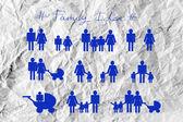 Family idea icons — Stock Photo