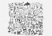 Drawing school items Back to School — Stock Vector