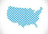 USA map vector illustration — Stock Vector