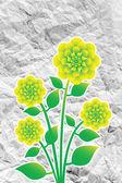Diseño de flores de papel arrugado — Foto de Stock