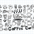 Coffee cup set or Tea cup icon collection design — Stock Vector #42597997