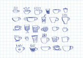 Coffee cup set or Tea cup icon collection design — Stockvektor