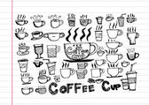 Coffee cup set or Tea cup icon collection design — Vector de stock
