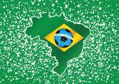 Map flag Soccer ball o Brazil — Stockvector