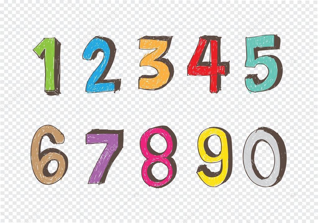 эскизы цифр: