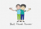Best Friends Forever idea design — Stock Vector