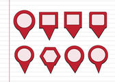 Map pointers mapping pins icon — Vecteur