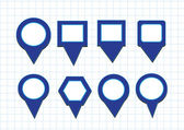 Map pointers mapping pins icon — Vettoriale Stock
