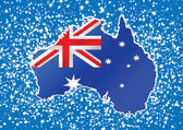 Map and flag of Australia idea design — Vecteur