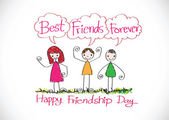 Best Friends Forever idea design — Vector de stock