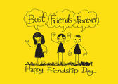Best Friends Forever idea design — ストックベクタ
