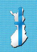 Finland map and flag idea design — Stock Vector