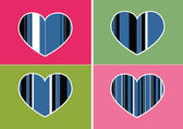Heart Icon and Hearts symbol lines abstract idea design — Cтоковый вектор