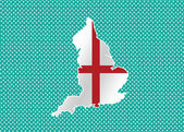 Map of  England flag  Decorative idea design — Stock Vector