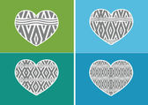 Heart Icon and Hearts symbol lines abstract idea design — Stock vektor
