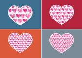 Heart Icon and Hearts symbol lines abstract idea design — Stock Vector