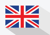 National flag of UK , the United Kingdom of Great Britain and No — Stock Vector