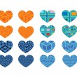 Heart abstract  icons signs and symbols set for your works — Stock Vector #44610119