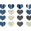 Heart abstract icons signs and symbols set for your works — Stock Vector #44610475