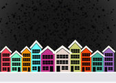 Little Town Townhouses  and home design — Stock Photo