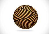Abstraktní 3d koule ilustrace pro návrh — Stock fotografie