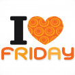 I love friday font signs Ideal design — Stock Vector