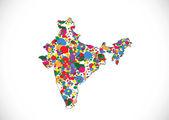 Map of India idea design — Stock Vector