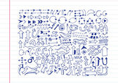 Hand drawn sketch arrow collection — Stock Vector