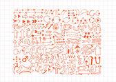Hand drawn sketch arrow collection — Stock Vector