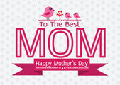 Happy mothers day Greeting card design for your mom — Stock Vector