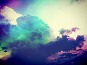 Sky clouds season color beautiful edit in filtered images — Stock fotografie