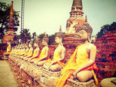 Buddha al wat yaichaimongkol, ayutthaya, Thailandia — Foto Stock