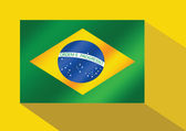 Brazil flag theme idea design — Stock Vector