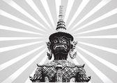 Thai giant art — Stock Vector