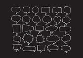 Speech Bubble Sketch hand drawn bubble speech — Stock Vector