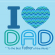 Happy Father's Day card idea design for your DAD — Stock Vector #46843181