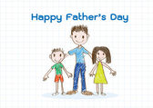 Happy Father's Day ,  love dad — Stock Vector