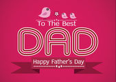 Happy Father's Day card idea design for your DAD — Stock Vector